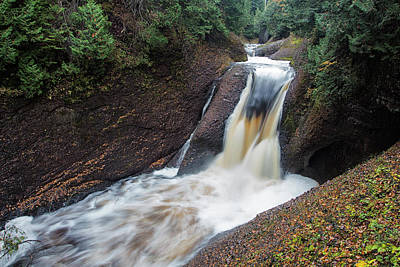 Photograph - Gorge Falls - Michigan by Rick Veldman
