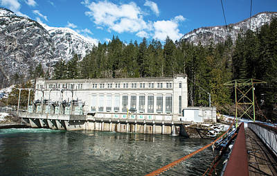 Photograph - Gorge Powerhouse And Winter Blue Sky by Tom Cochran