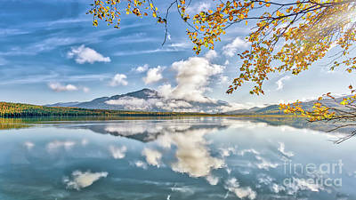 Photograph - Gorgeous Alaskan Mountain Lake During Autumn On The Kenai Penins by Patrick Wolfmountain lake during Autumn on the Kenai penins