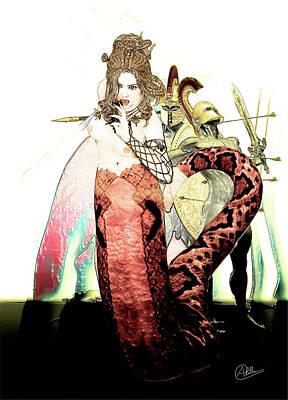 Gorgon Wall Art - Digital Art - Gorgon Medusa  by Quim Abella