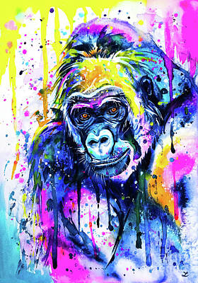 Mixed Media - Gorilla 2 by Zaira Dzhaubaeva