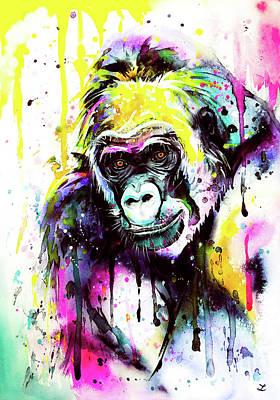 Painting - Gorilla 3 by Zaira Dzhaubaeva