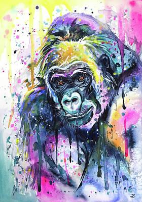 Painting - Gorilla by Zaira Dzhaubaeva