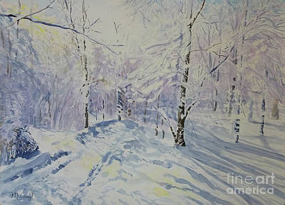 Painting - Gossamer Snow by Michelle Curry