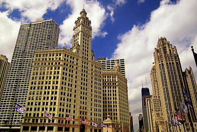 Photograph - Gothic American Downtown Chicago by Pastorscott