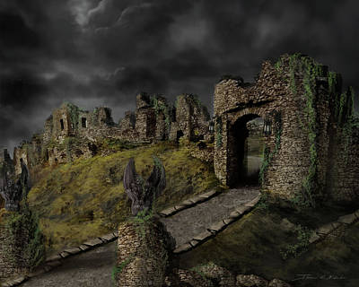 Painting - Gothic Ruins I by James Christopher Hill