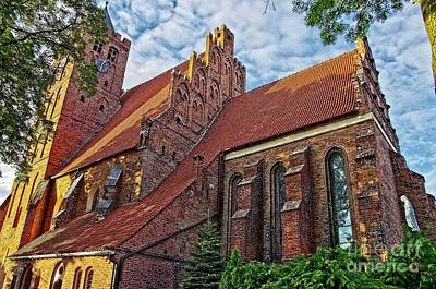 Photograph - Gothic Style Church In Poland by Elzbieta Fazel