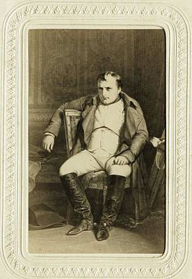 Winter Animals Rights Managed Images - Goupil   Co  Napoleon by Paul Delaroche  ca 1870 Royalty-Free Image by Celestial Images