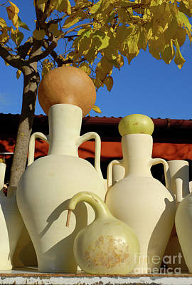 Wall Art - Photograph - Gourds And Pottery by Josie Elias