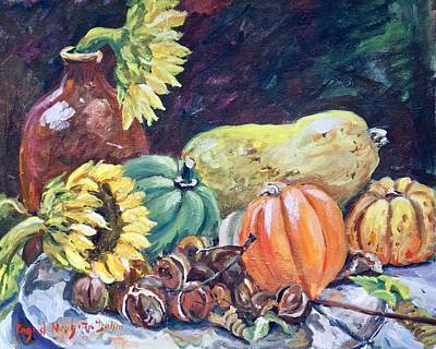 Painting - Gourds IIi by Ingrid Dohm