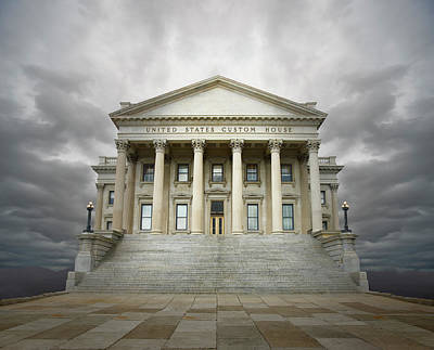 Photograph - Government Building Fantasy by Ed Freeman