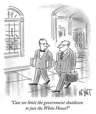 Cod Drawing - Government Shutdown by Christopher Weyant