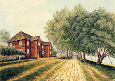 Drawing - Governor Palmer's Residence At Kensington, Philadelphia, 1747-48 by William Breton