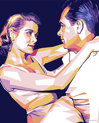Staff Picks Cortney Herron - Grace Kelly and William Holden by Stars on Art