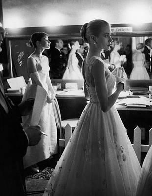 Celebrity Photograph - Grace Kellyaudrey Hepburn by Allan Grant