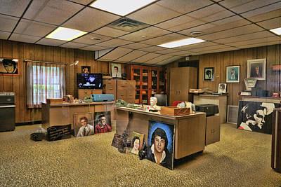 Photograph - Graceland - Colonel Parker's Office by Allen Beatty