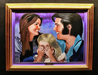 Photograph - Graceland - Elvis , Priscilla, And  Lisa Marie  by Allen Beatty