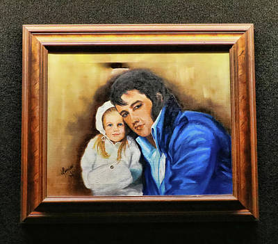 Photograph - Graceland - Elvis And Lisa Marie by Allen Beatty