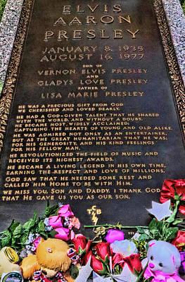 Photograph - Graceland - Elvis Presley's Grave # 2 by Allen Beatty