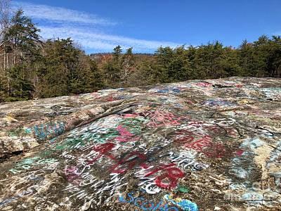 Photograph - Graffiti On Bald Rock by Flavia Westerwelle