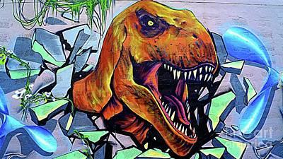 Painting - Graffiti Tyrannosaurs Rex  by Ian Gledhill