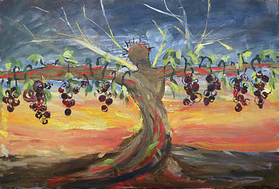Painting - Grafted Into The Living Vine by Anna Barnhart