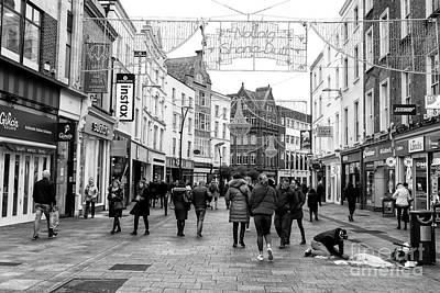 Photograph - Grafton Street Shopping Day Dublin by John Rizzuto