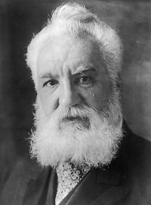 Graham Bell Art Print by Topical Press Agency