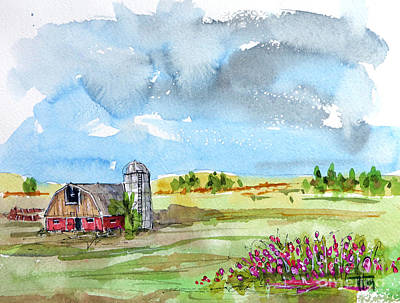Painting - Grain Acres Is The Life For Me by Tim Ross