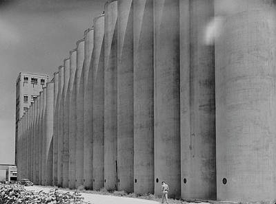 Photograph - Grain Elevators by Margaret Bourke-white