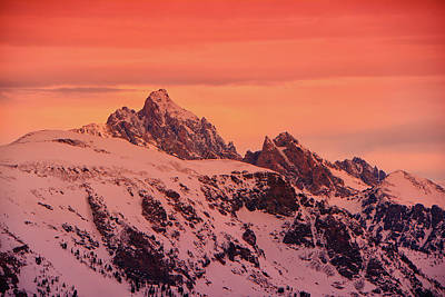 Photograph - Grand And Other Tetons From The Top Of Jackson Hole Ski Resort by Raymond Salani III