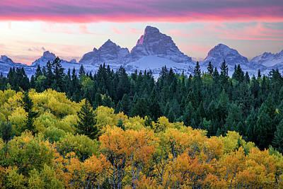 Photograph - Grand Autumn Sunrise by Leland D Howard