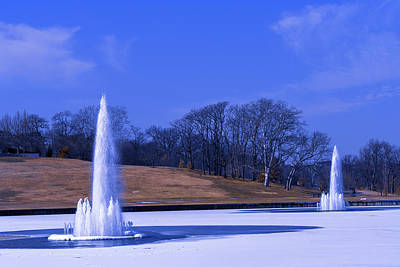 Photograph - Grand Basin Fountains On Ice by Robert FERD Frank