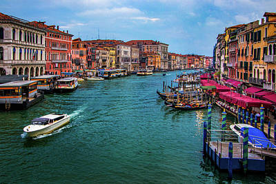 Photograph - Grand Canal In Venice by Carolyn Derstine