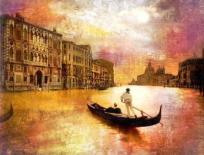 Photograph - Grand Canal In Venice Remastered by Carlos Diaz