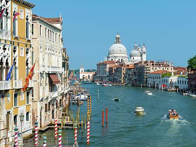 Photograph - Grand Canal, Santa Maria Della Salute by Chris Hepburn