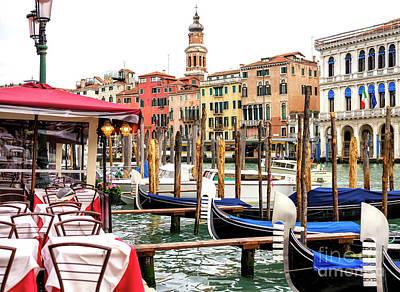Photograph - Grand Canal Scene Venice by John Rizzuto