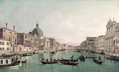 Painting - Grand Canal, Venice From Scalzi To San by Superstock