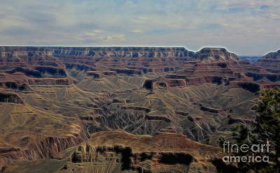 Photograph - Grand Canyon Artistic View  by Chuck Kuhn