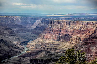 Photograph - Grand Canyon Colorado River Flows  by Chuck Kuhn