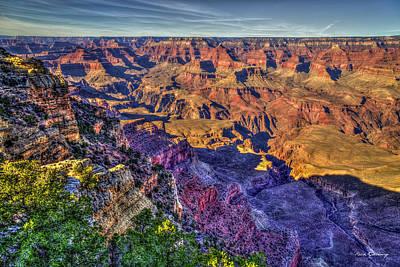 Photograph - Grand Canyon Morning Shadows Arizona Art by Reid Callaway