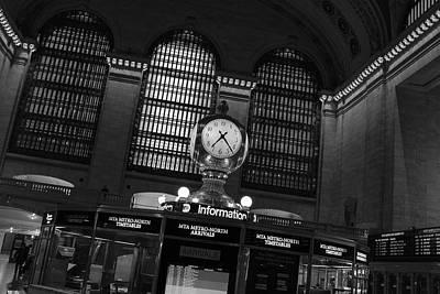 Photograph - Grand Central Terminal Brass Clock by Doug Ash