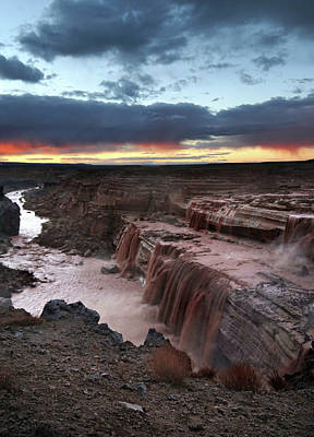Photograph - Grand Falls Sunset by Jeff Brunton
