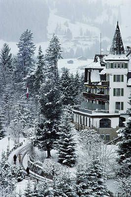 Ski Resort Photograph - Grand Hotel Alpina by Slim Aarons