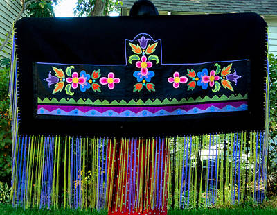 Tapestry - Textile - Grand Mothers Garden by Chholing Taha