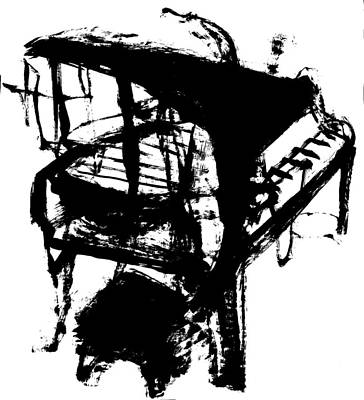 Drawing - Grand Piano by Artist Dot