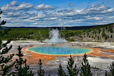 Photograph - Grand Prismatic Spring by Bipul Haldar