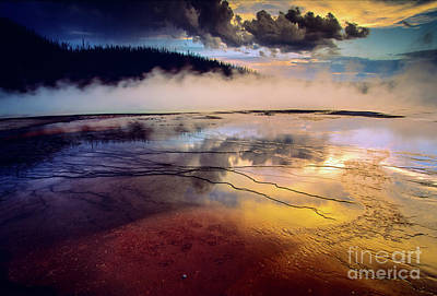 Photograph - Grand Prismatic Spring by Inge Johnsson