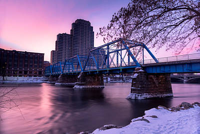 Photograph - Grand Rapids at Sunrise by Greg Russell