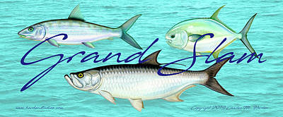 Photograph - Grand Slam Tarpon Bonefish Permit Fishing by Charles Harden